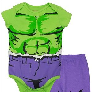 Marvel Hulk Bodysuit and pants 12 month